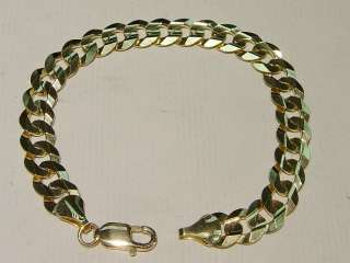 Brand New 14k Solid Gold Mens CLASSIC Cuban Link 9.5mm Bracelet Free