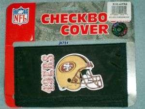 NFL SAN FRANCISCO 49ERS NYLON CHECKBOOK COVER, NEW