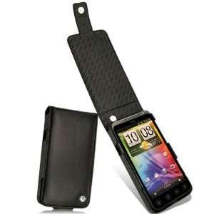 Noreve Premium Genuine Black Leather Flip Carry Case Cover