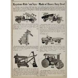 1934 Ad Keystone Riding Toys Dump Truck Steam Shovel