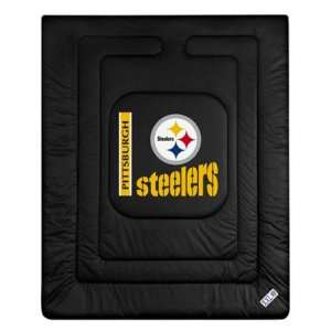 Steelers Locker Room Comforter   Full/Queen Bed Sports & Outdoors