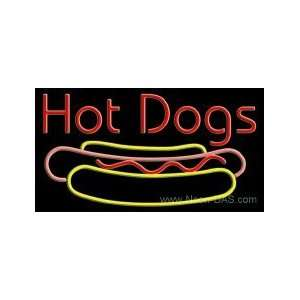 Hot Dogs Neon Sign 20 x 37: Home Improvement