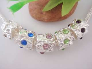 10pcs Charm Silver Plated Spacer Beads Fit Bracelet N15