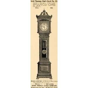1895 Ad Seth Thomas Clock Company 23 Hall 8 Day Strike