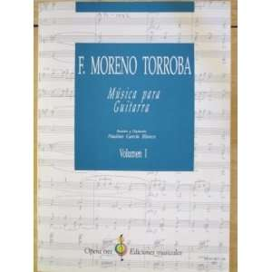 Musica para Guitarra Volumn 1 F. Moreno Torroba Books