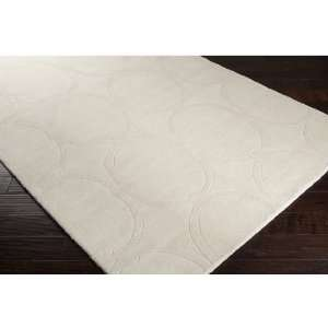 3.25 x 5.25 Kusari Winter White Wool Area Throw Rug
