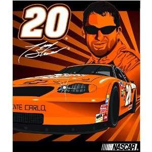 Tony Stewart #20 NASCAR Full Throttle Royal Plush Raschel