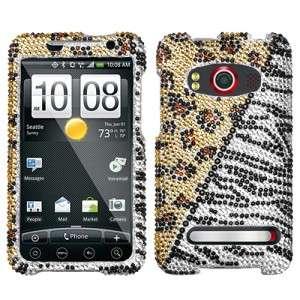 Hottie Crystal Diamond BLING Hard Case Phone Cover for Sprint HTC EVO