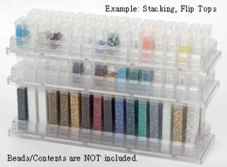 Bid is for 1 each shelf with 32 of the 1 1/2 flip top containers