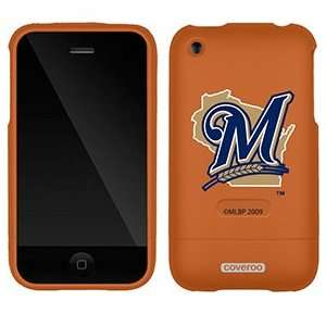 Milwaukee Brewers M in Blue on AT&T iPhone 3G/3GS Case by