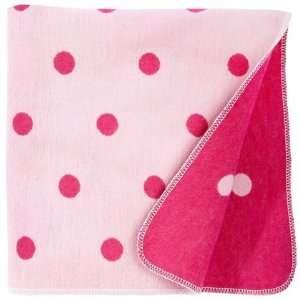 David Fussenegger Polka Dots Baby Blanket   Pink/Hot Pink Baby