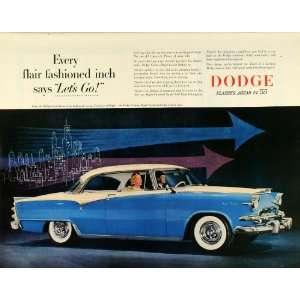 1955 Ad Dodge Division Chrysler Blue Custom Royal Lances