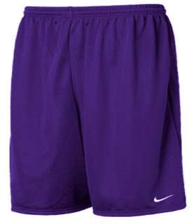 Nike Mens Dark Purple Mesh Workout Training Gym Shorts