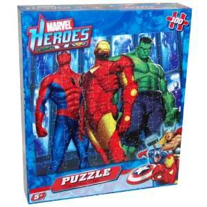 Piece Jigsaw Puzzle with Iron Man, Spiderman and Hulk Toys & Games