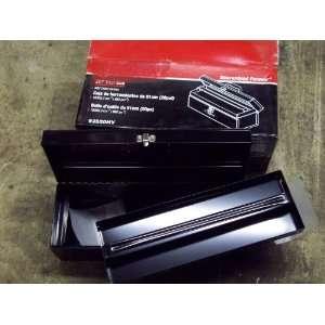 20 inch Steel Flat top Tool Box Black W/tray