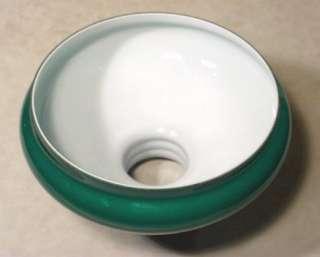 Pair Old Antique British Glass 8.75 Green Cased Kerosense Oil Lamp