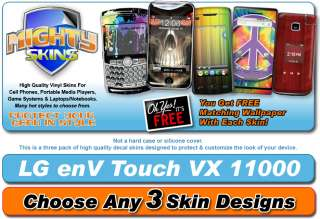Skin Decal cover for LG Env Touch cell phone skins vinyl case pick 3