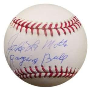 MLB Jake LaMotta Raging Bull Autographed Baseball