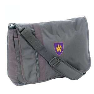 Mercury Luggage Weber State Wildcats Black Messenger Bag