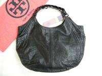 TORY BURCH bag purse handbag SATCHEL pocketbook hobo LEATHER BLACK