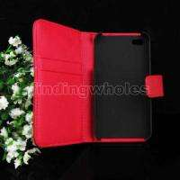CASE LEATHER SKIN POUCH COVER +SCREEN PROTECTOR FOR iPhone 4 4G OS RED