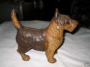 CAST IRON DOORSTOP TERRIER SCOTTY DOG HUBLEY HOME STATUE ART DOOR STOP
