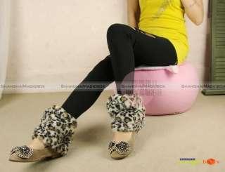 Women Fashion Warm Faux Fur Short Boot Socks Covers Muffs 20cm 11