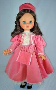 Vintage Furga Doll Made in Italy Gone With the Wind 18 Model Brunette