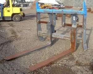 JRB Quick Change Forks for 3 Yard Wheel Loader