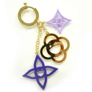 LOUIS VUITTON Cosmic Blossom Bag Charm Keychain Violet