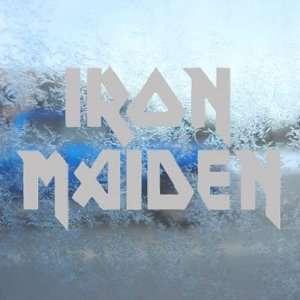 Iron Maiden Gray Decal Metal Rock Band Window Gray Sticker