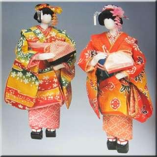 Japanese Washi Kimono Ningyo   Paper Doll Book 6 Art