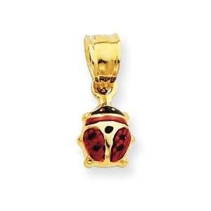 14k Enameled Ladybug Charm Jewelry