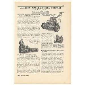 1931 Jacobsen Heavy Duty Power Lawn Mowers Print Ad (41795