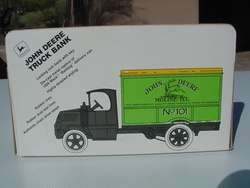 ERTL JOHN DEERE TRUCK BANK (SAMPLE) 1926 MACK BULLDOG DELIVERY VAN