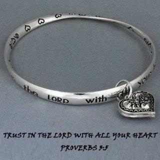 Silver Bible Verse Corinthians, Faith, Hope & Love Bracelet with