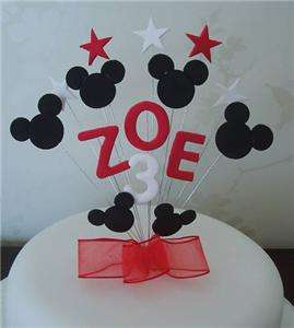 BIRTHDAY CAKE TOPPER MICKEY MOUSE   RED   BOY OR GIRL