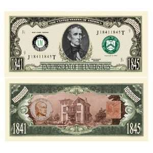 SET OF 100 BILLS JOHN TYLER MILLION DOLLAR BILL Toys & Games