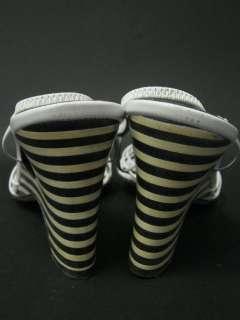 KATE SPADE Black White Santiago Slingbacks Heels Sz 10B