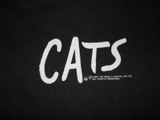 vintage CATS THE MUSICAL BLACK EYES 80S SOFT t shirt L