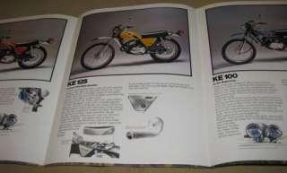 1975 KAWASAKI Dual Purpose Street Bikes Brochure  KE KV