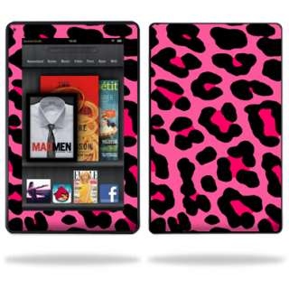 Skin Decal Cover for  Kindle Fire Tablet Pink Leopard