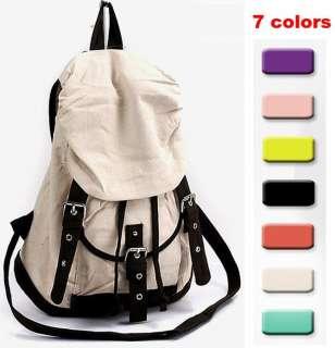 Korean Women Girls Handbag Canvas Schoolbag Bag Leisure Backpack 7