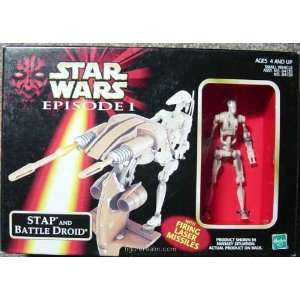 Star Wars Episode 1 Stap and Battle Droid  Toys & Games