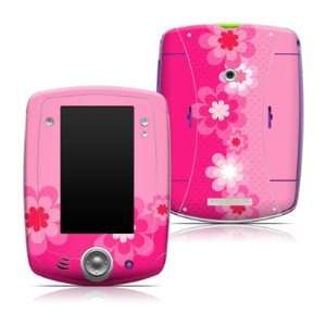 Pink Flowers Design Protective Decal Skin Sticker for LeapFrog LeapPad