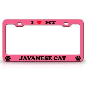 I LOVE MY JAVANESE Cat Pet Animal High Quality STEEL
