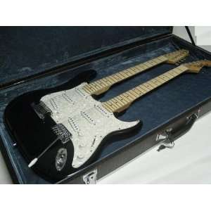 Double Neck Electric Guitar with Hard Case, 12/6 String