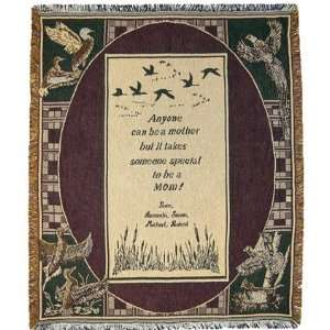 Personalized Mother Throw   Birds