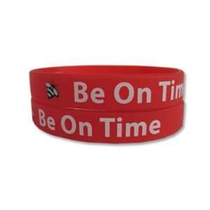 Be On Time Rubber Bracelet Wristband   Adult 8 Sports