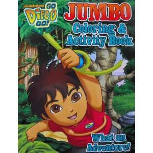 Go Diego Go 96 Page Coloring and Activity Book (What an